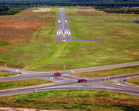 Burnett County Airport (RZN) - Short final ~ runway 32 - by Gary Dikkers