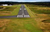 Sawyer County Airport (HYR) - Short final ~ runway 32 - by Gary Dikkers