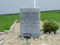 South St Paul Muni-richard E Fleming Fld Airport (SGS) - South St. Paul Municipal-Richard E. Fleming Field Dedication Monument. Capt. Fleming was awarded the Congressional Medal of Honor, our Nation's highest, posthumously in WWII. - by Doug Robertson