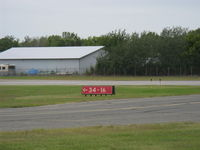 South St Paul Muni-richard E Fleming Fld Airport (SGS) - Single runway 16-34 RWY Marker - by Doug Robertson