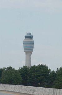 Hartsfield - Jackson Atlanta International Airport (ATL) - A SE vista of the control tower@ATL. (an f-stop 5.6 photograph) - by Bill Thornton, former managing editor USAF Flying Safety Magazine