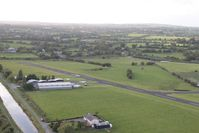 EIAB Airport - Abbeyshrule, Ireland - alongside the Grand Canal, seen from balloon G-BRUV - by Pete Hughes