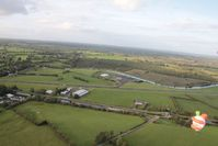 EIAB Airport - Abbeyshrule, Ireland seen from ballon G-BRUV with clown G-LAFF bottom right - by Pete Hughes