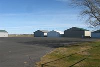 Todd Field Airport (14Y) - A row of hangars at Todd Field Airport in Long Prairie, MN. - by Kreg Anderson
