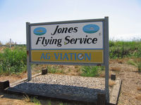 Jones/ag-viation Airport (CL23) - You've arrived - Jones Flying Service/Ag-viation welcoming sign at entrance to their Biggs, CA airstrip - by Steve Nation