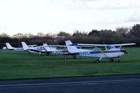City Airport Manchester, Manchester, England United Kingdom (EGCB) - some of the Lancashire Aero Club fleet based at Barton Aerodrome - by Chris Hall
