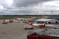 Tegel International Airport (closing in 2011), Berlin Germany (EDDT) - View over AIR BERLIN apron - by Holger Zengler