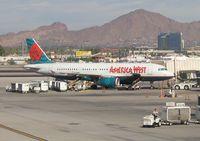 Phoenix Sky Harbor International Airport (PHX) - A320 of America West in Phoenix - by Micha Lueck