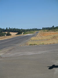 Angwin-parrett Field Airport (2O3) - RWY 34 runs slightly uphill at Virgil O. Parrett Field, Angwin, CA  - by Steve Nation