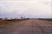 Mojave Airport (MHV) - T-33's and, I believe, a Vickers Vanguard or Electra. - by GatewayN727