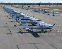 Daytona Beach International Airport (DAB) - A view of the Embry-Riddle Aeronautical University ramp at DAB. - by Kreg Anderson
