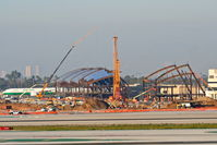 Los Angeles International Airport (LAX) - The new Tom Bradley International Terminal under construction at LAX. - by Mark Kalfas