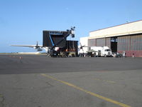 Kalaeloa (john Rodgers Field) Airport (JRF) - Filming of LOST with HC-130H from CGAS Barbers Pt. in front of Hangar 111. - by Ewa Marine