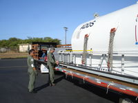 Kalaeloa (john Rodgers Field) Airport (JRF) - ADDS mission with USCG Barbers, Clean Islands Council and JRF. The ADDS tank is stationed aboard JRF and is used on the C-130 to spray a disspersant over a oil spill or pollution emergency. It can be loaded in 45 mins and flown. Hawaii is particularly vun - by Ewa Marine