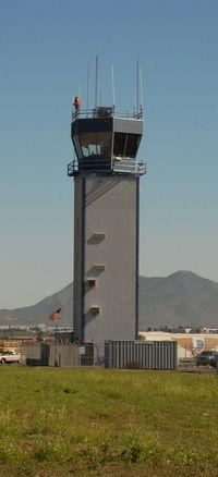 Brown Field Municipal Airport (SDM) - tower at SDM - by J.G. Handelman
