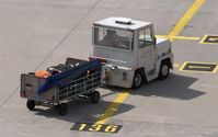 Leipzig/Halle Airport, Leipzig/Halle Germany (EDDP) - Luggage for a holiday liner...... - by Holger Zengler
