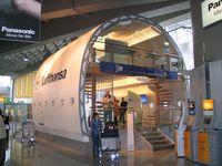 Frankfurt International Airport, Frankfurt am Main Germany (FRA) - A380 mock-up at Frankfurt Airport. Lufthansa has 15 of this beast on order - by Micha Lueck