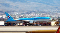 Mc Carran International Airport (LAS) - KAL flight landing McCarran - by John Little