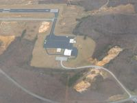 Rockwood Municipal Airport (RKW) - Looking SE from 3000' - by Bob Simmermon