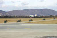 Graz Airport, Graz Austria (LOWG) - 5 US Army Blackhawks are just arriving from LNZ/LOWL - by Robert Schöberl