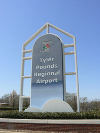 Tyler Pounds Regional Airport (TYR) - Tyler Pounds Field new terminal entrance sign. - by Zane Adams