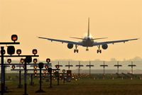 Tegel International Airport (closing in 2011), Berlin Germany (EDDT) - Very final approach on rwy 08L. - by Holger Zengler