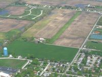 Frost Field Airport (0II7) - Looking NW from 3000' - by Bob Simmermon