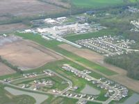 Pope Field Airport (GFD) - Looking SW from 3000' - by Bob Simmermon