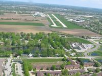 Greenwood Municipal Airport (HFY) - Looking north from base - RWY 1 - by Bob Simmermon
