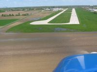 Greenwood Municipal Airport (HFY) - Short final for RWY 1 - by Bob Simmermon