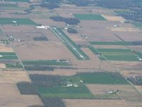 Darke County Airport (VES) - Looking SE from 5000' - by Bob Simmermon