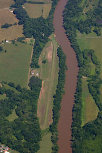 Berts Airport (NC32) - A well-maintained airstrip with a beautiful approach over the river. - by Jamin