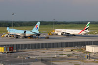Vienna International Airport, Vienna Austria (VIE) - Korean Air Cargo + Emirates - by Chris Jilli