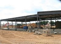 Oakland County International Airport (PTK) - New Executive Terminal being built - by Florida Metal