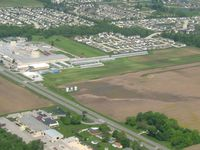 Pope Field Airport (GFD) - Looking NW from 2500' - by Bob Simmermon