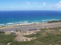 Dillingham Airfield Airport (HDH) - East end of the Dillingham runway looking North to the runway and out over the Pacific Ocean  - by Paul Felix Schott