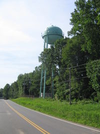 Orange County Airport (OMH) - This water tower was the location of  the airport beacon until approx 2011. - by Ronald Barker
