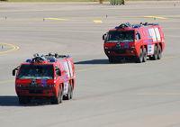 Amsterdam Schiphol Airport, Haarlemmermeer, near Amsterdam Netherlands (EHAM) - Fire Trucks at Schiphol - by Chris Hall