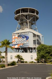 Perris Valley Airport (L65) - Indoor Sky Diving - by J.G. Handelman