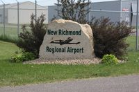 New Richmond Regional Airport (RNH) - Entrance marker - by Timothy Aanerud
