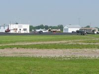 Hardin County Airport (I95) - Busy ramp on a Saturday morning at Kenton, Ohio - by Bob Simmermon