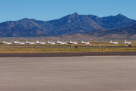 Kingman Airport (IGM) - 13 of 16 remotely stored American Eagle Saab 340s at Kingman - by Terry Fletcher