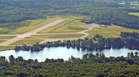 Dillant-hopkins Airport (EEN) - Looking west from North Swanzey to Wilson Pond and Dillant-Hopkins Airport. Altitude 2,000 feet. - by Ron Yantiss