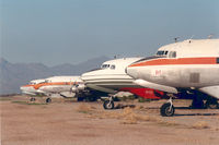 Gila River Memorial Airport (34AZ) - DC-6 and DC-6B of Mac Avia - by Henk Geerlings