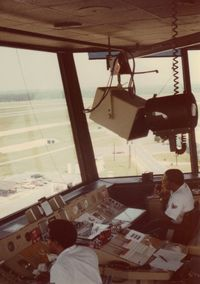 Pope Aaf Airport (POB) - My tower crewmates - August 1979 - by Marc Chenevert