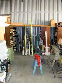 Santa Paula Airport (SZP) - Joe Krybus's Bucker Shop, Woodworking machines - by Doug Robertson