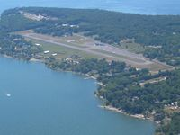 Put In Bay Airport (3W2) - Looking SW on L downwind for 21. - by Bob Simmermon