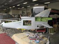 Santa Paula Airport (SZP) - Experimental aircraft In-Build, BD-FLS MICROJET, Quantum Turbine TJ100 jet engine - by Doug Robertson