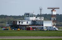 Bournemouth Airport, Bournemouth, England United Kingdom (EGHH) - Bournemouth Control Tower - by planemad