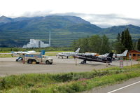 Healy River Airport (HRR) - Aircraft and Fuel Truck at Healy River Airport at Healy, AK - by scotch-canadian